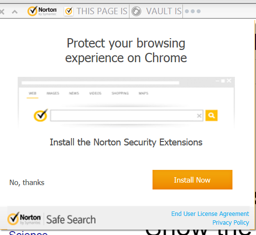 Norton Security Toolbar